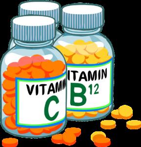 glass jars of vitamins