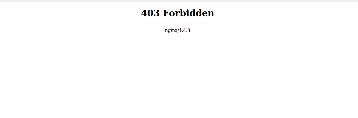 403 forbidden webpage error