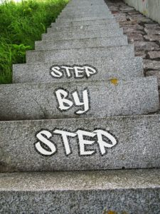 "photo of steps with caption ""Step By Step"""