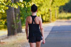 woman brisk walking