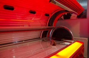 photo of a solarium in a beauty parlour