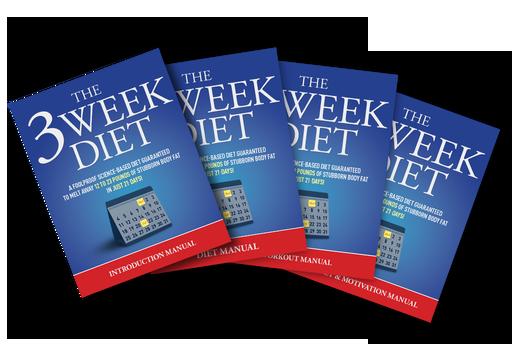 4 copies of 3 Week Diet ebook