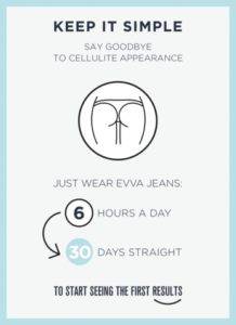 diagram on wearing evva jeans for 30 days